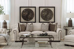 """Contemporary 47.5"""" Nailhead-Accented Chair in Beige"""