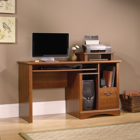 "53.5"" Traditional One-Drawer Computer Desk in Planked Cherry"
