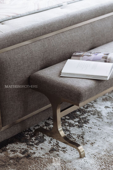 """18.5"""" Casual Bench in Gray"""