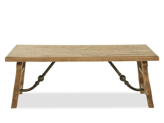 Traditional Rectangular Cocktail Table in Brown