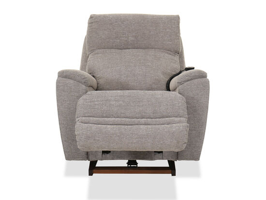 Remote-Controlled Casual 38'' Power Recliner in Stone