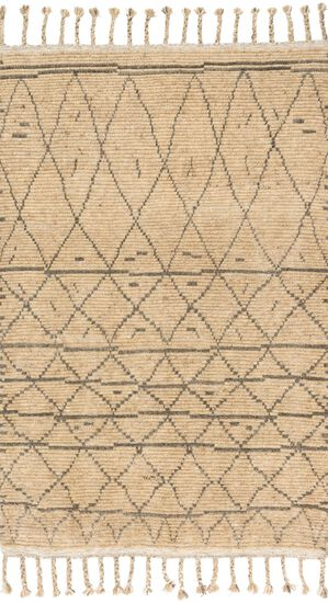 "Transitional 5'-6""x8'-6"" Rug in Natural/Grey"