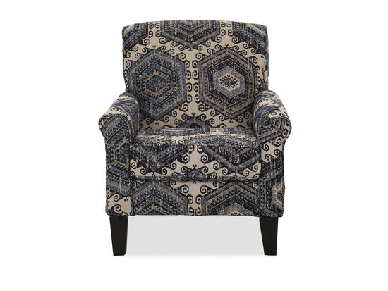 Transitional 32'' Accent Chair in Tequila Indigo
