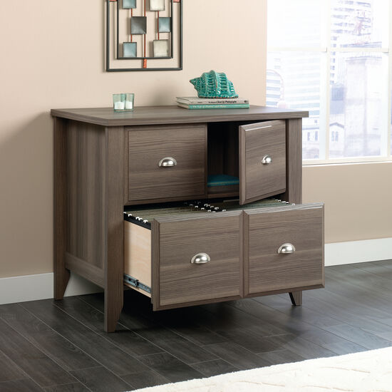 Four-Drawer Contemporary Lateral File in Diamond Ash