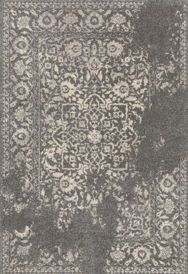 """Transitional 5'-3""""x7'-7"""" Rug in Charcoal/Ivory"""