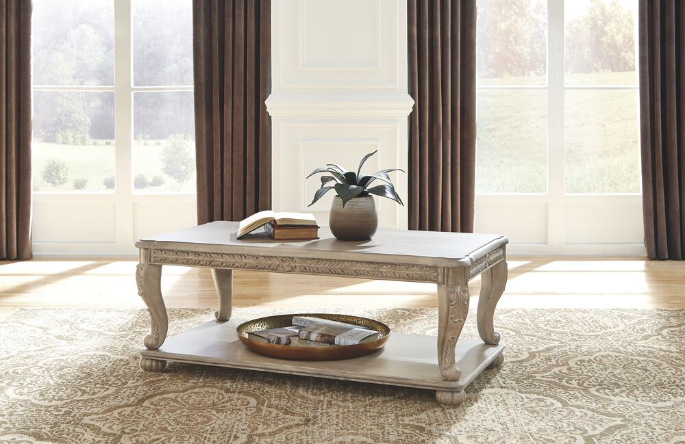 Kerston Light Brown Rectangular Cocktail Table Mathis Brothers Furniture