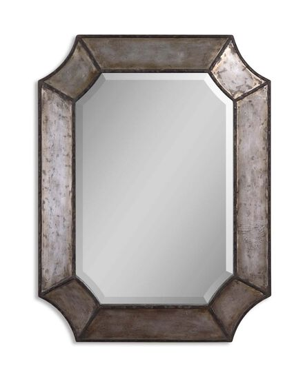 "32"" Octagonal Accent Mirror in Distressed Bronze"