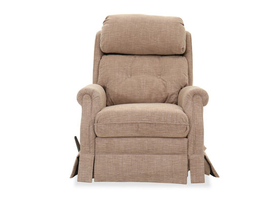 "Casual 33"" Button-Tufted Rocker Recliner in Latte"