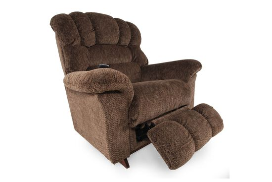 """Textured Casual 46"""" XR Power Recliner in Milk Chocolate"""