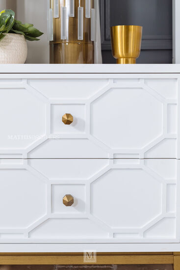 Two-Drawer Contemporary Youth Nightstand in White