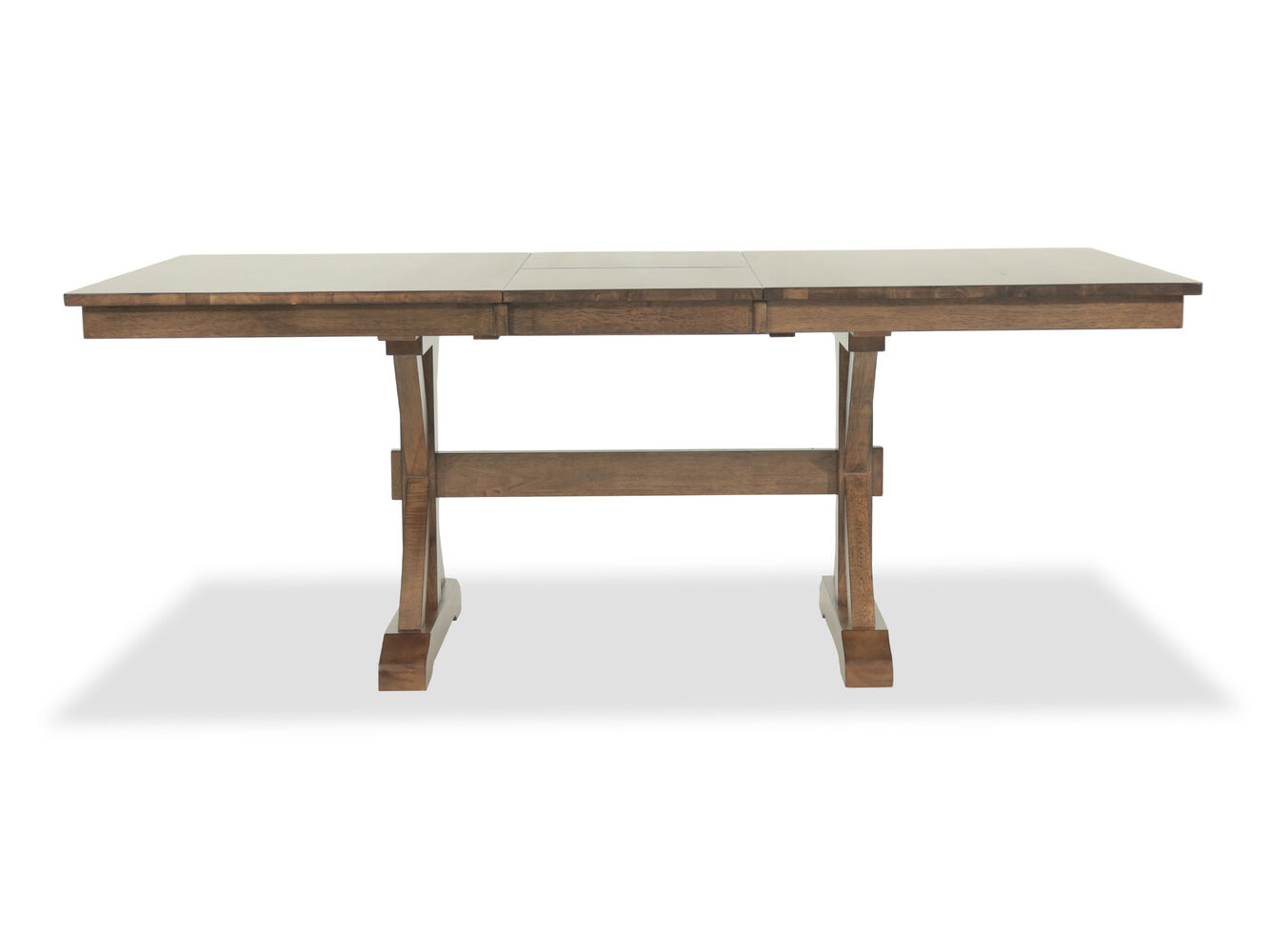 Traditional 78 to 96 x base trestle table in caramel for Traditional dining table bases