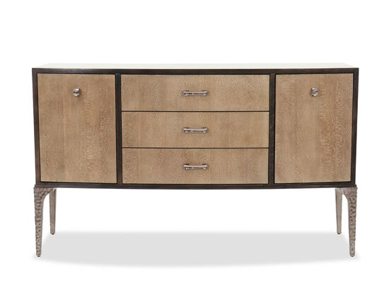 """Transitional 77.5"""" Sideboard in Brown"""