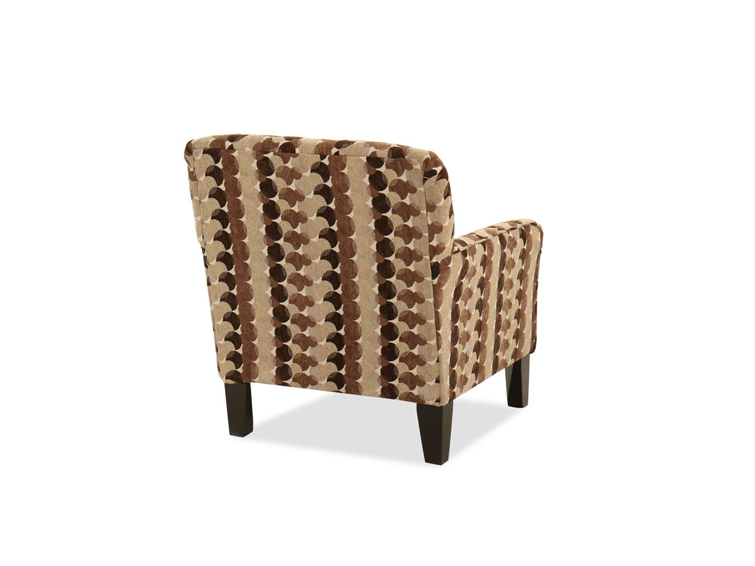 Hardwood and plywood frame construction enhance the longevity of this fabric upholstered accent chair