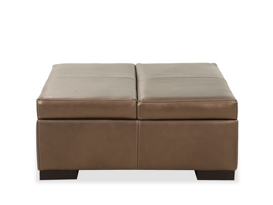 "Casual 36"" Double Storage Ottoman in Brown"