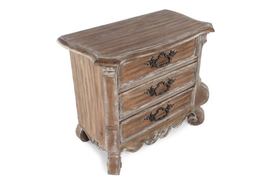 "30"" Traditional Weathered Three-Drawer Nightstand in Brown"
