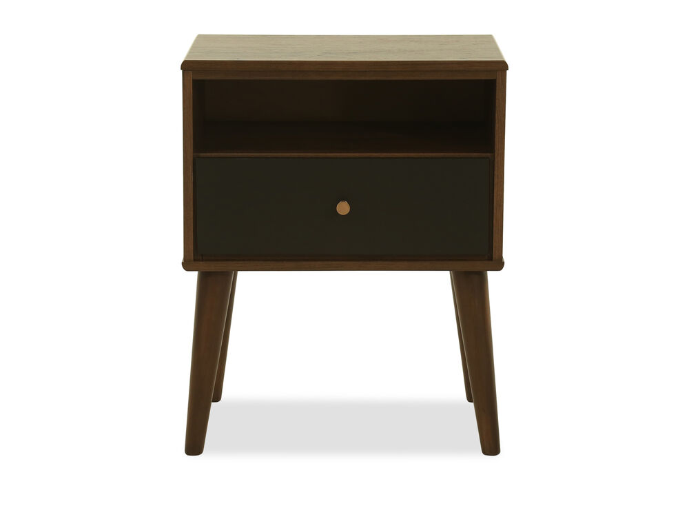 """26"""" Modern One-Drawer Nightstand in Brown"""