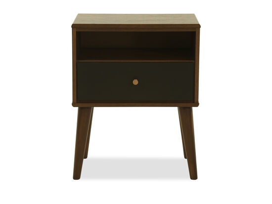 "26"" Modern One-Drawer Nightstand in Brown"