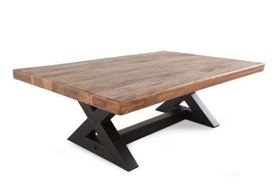 Cross-Brace Leg Casual Cocktail Table in Black