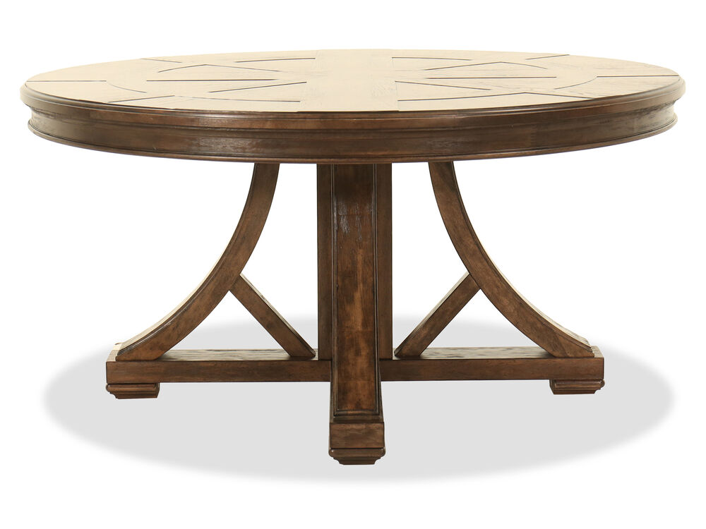 Traditional 60 Quot Round Dining Table In Brown Mathis
