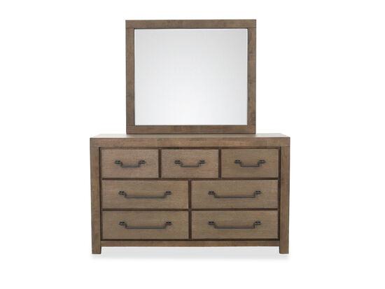 Two-Piece Casual Dresser & Mirror in Oak