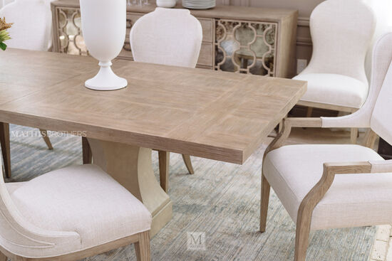 """Traditional 43"""" Dining Chair in Beige"""