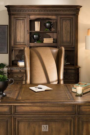 """Nailhead-Trimmed European Classic 30"""" Chair in Brown"""