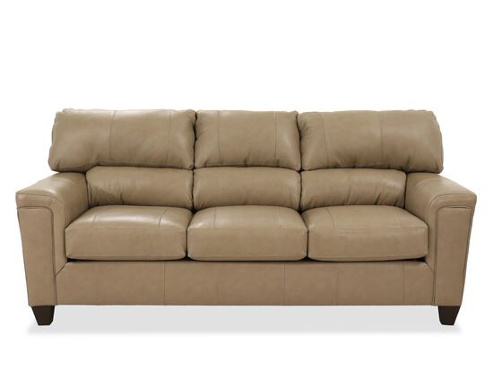 "Casual 88"" Leather Sofa in Brown"