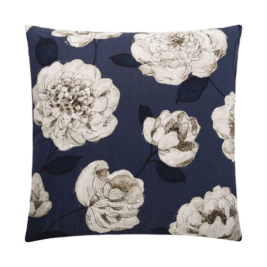 Begonia Pillow in Navy Blue