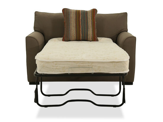 """T-Back Casual 54"""" Chairbed in Brown"""