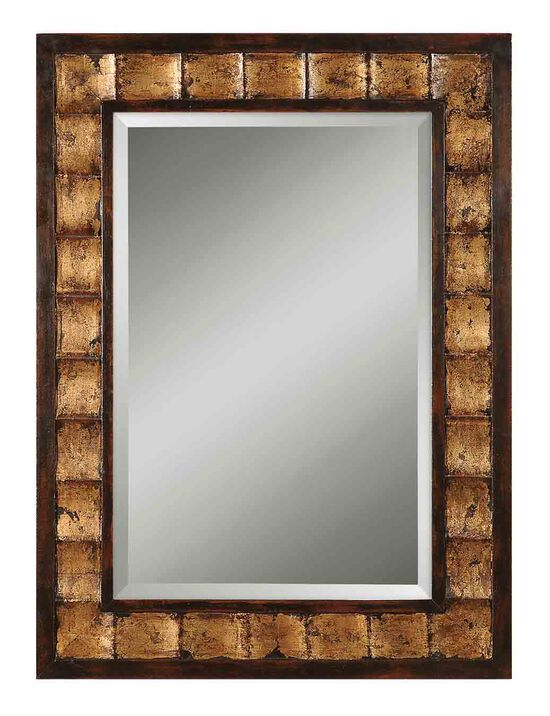 "38"" Beveled Accent Mirror in Gold"