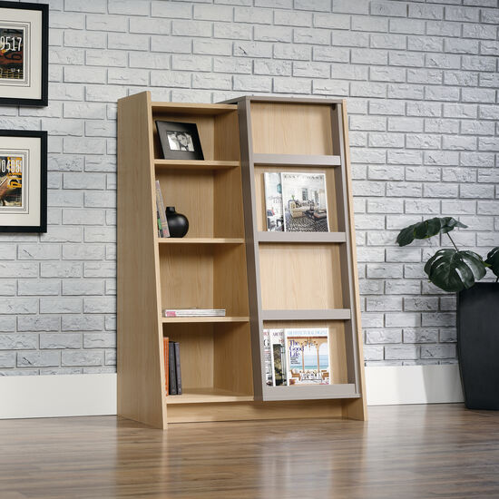 One-Door Traditional Display Bookcase in Urban Ash