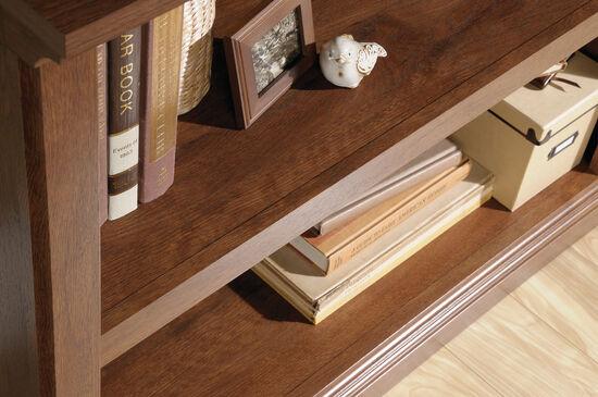 Contemporary Adjustable Shelf Open Bookcase in Oiled Oak