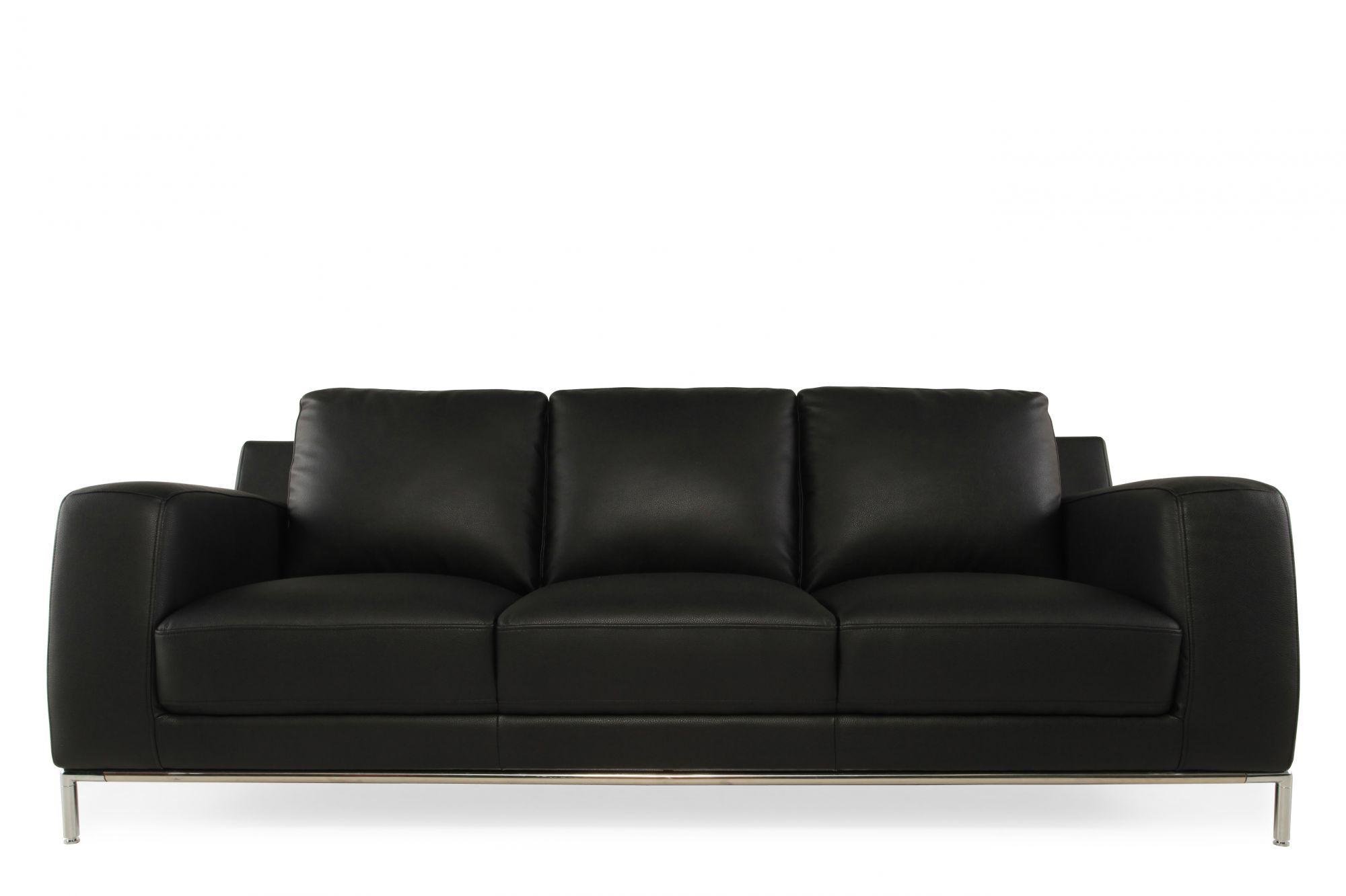Images Low Profile Contemporary 85u0026quot; Sofa In Ebony Black Low Profile  Contemporary 85u0026quot; Sofa In Ebony Black