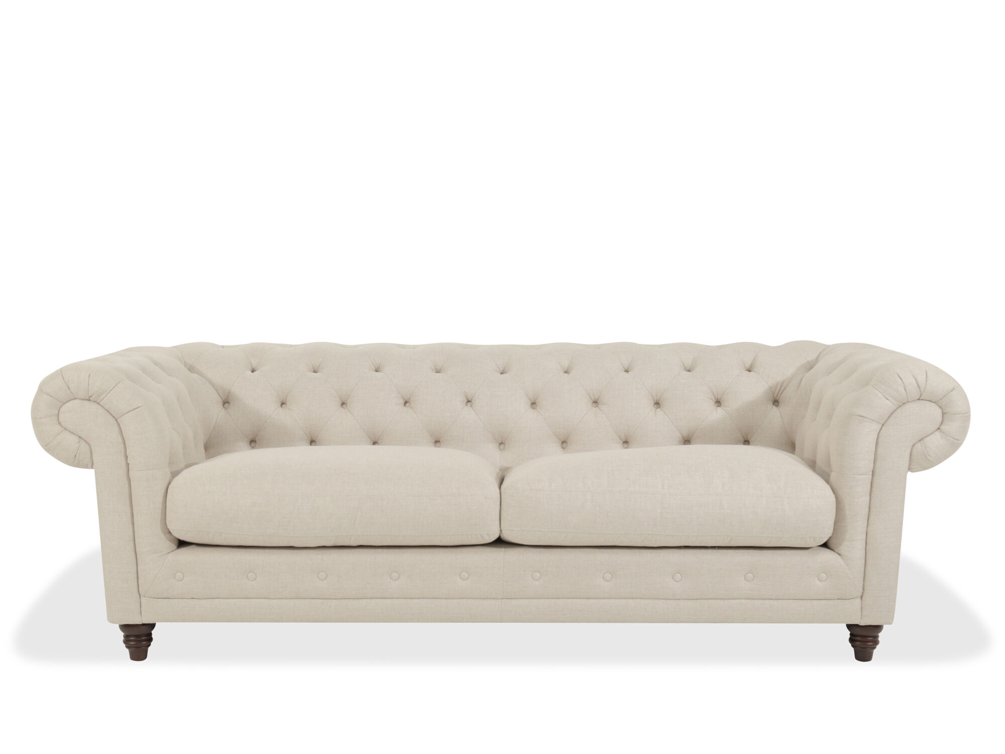 Chesterfield Sofa In Oatmeal Mathis Brothers Furniture