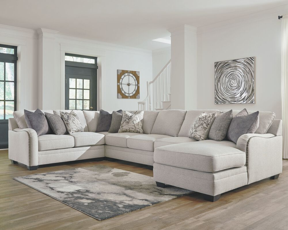 Dellara Chalk 9-Piece Sectional with Chaise  Mathis Brothers