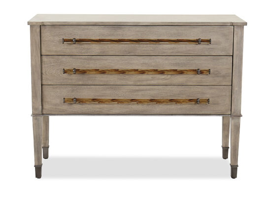 "Transitional 36"" Three-Drawer Chest in Brown"