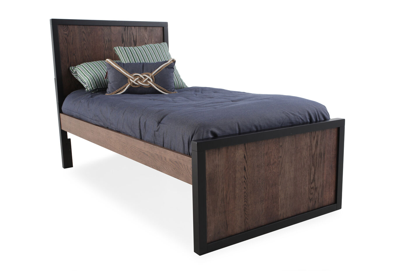 Contemporary Youth Panel Bed In Brown Mathis Brothers
