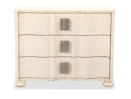 Three-Drawer Transitional Accent Chest in White