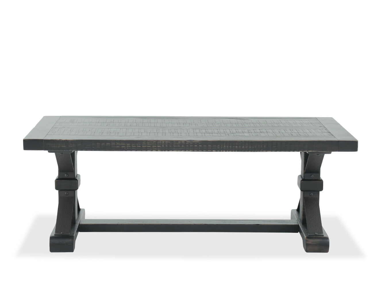 Rectangular Casual Cocktail Table In Dark Brown Mathis Brothers Furniture