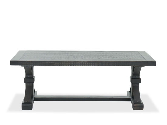 Rectangular Casual Cocktail Table in Dark Brown