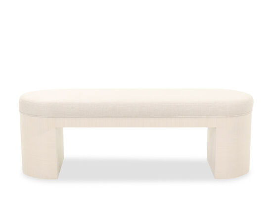"Transitional 56"" Bench in Linear White"