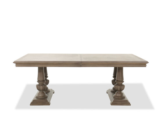 "Traditional 84""-108"" Double Pedestal Dining Table in Cobblestone"