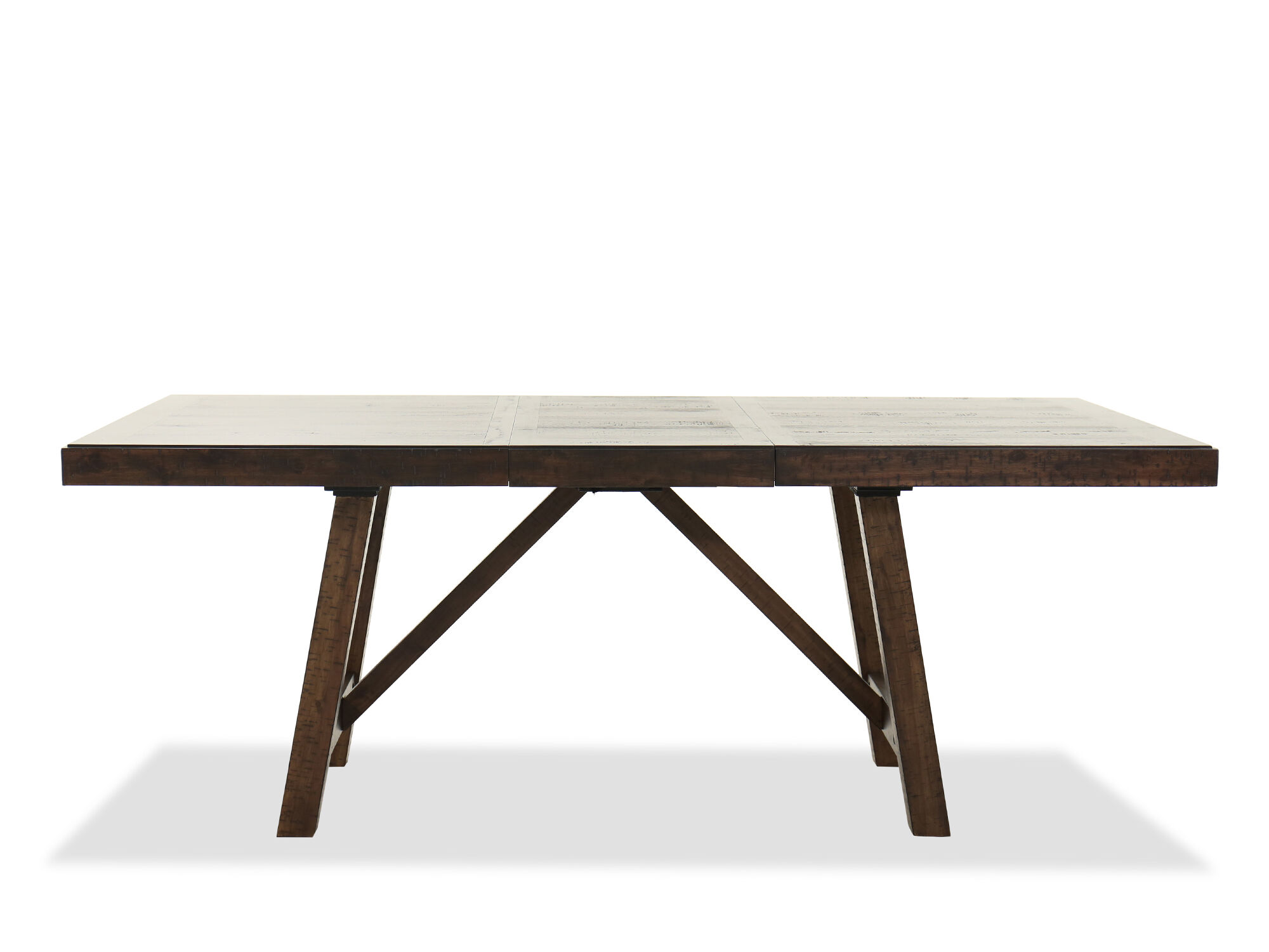 Rectangular 78 5 Dining Table In Brown Mathis Brothers Furniture
