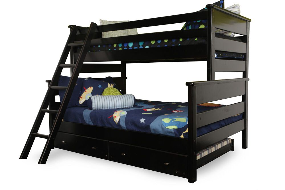 Casual Youth Twin Over Full Bunk Bed In Black Cherry Mathis