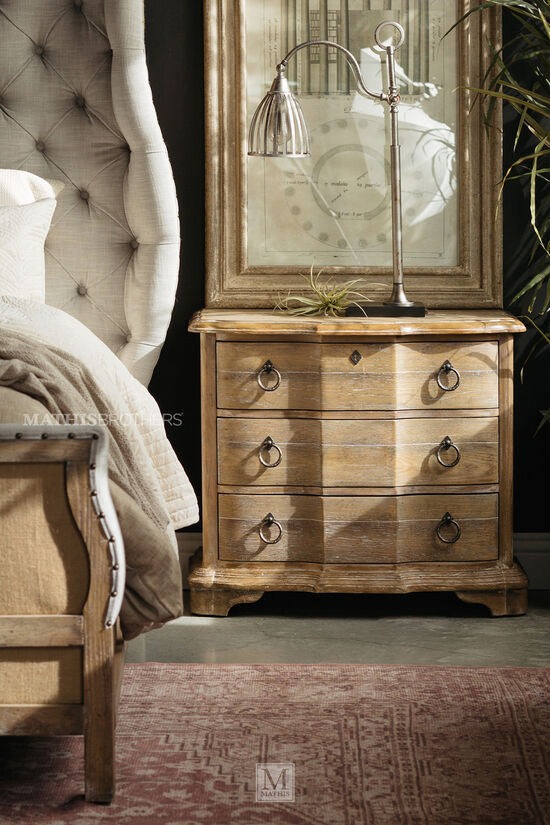 """30"""" Traditional Three-Drawer Nightstand in Light Brown"""