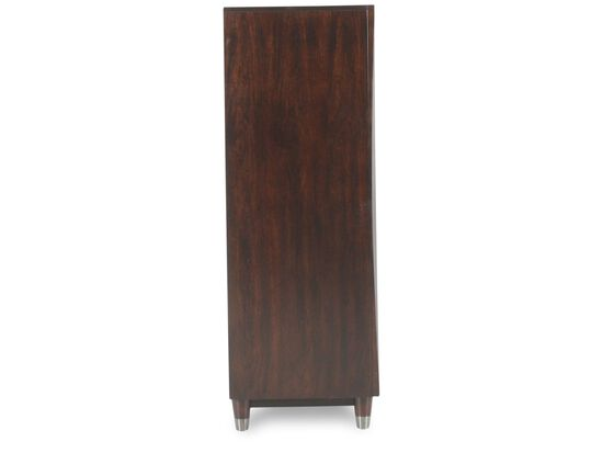 "54"" Contemporary Five-Drawer Chest in Black Cherry"