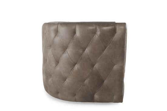 "Nailhead-Trimmed Industrial 31.5"" Swivel Chair in Dark Latte"