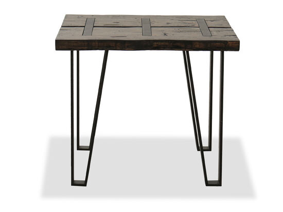 Rectangular Industrial End Table in Sawmill