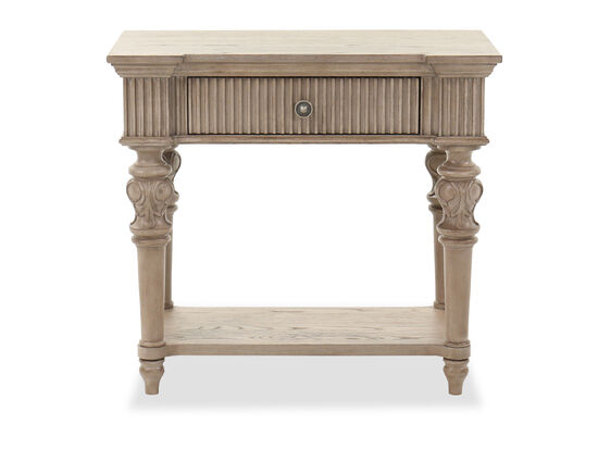 """29"""" Transitional One-Drawer Nightstand in Light Brown"""