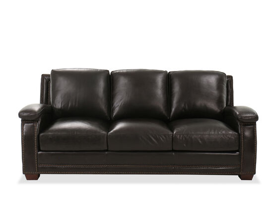 "Nailhead-Accented Casual 87"" Sofa in Primo Smoke"